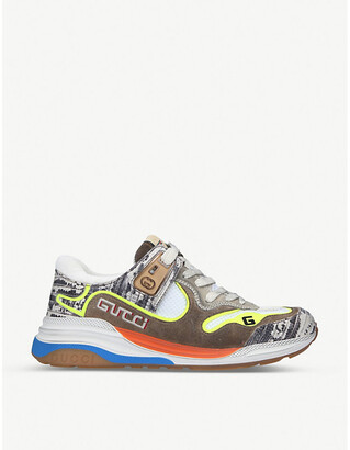 Gucci Ultrapace leather and textile trainers