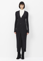 Jil Sander black long cardigan