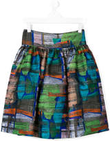 Simonetta abstract print skirt