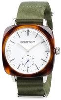 Briston Clubmaster Vintage Chronograph Watch, Green/Brown