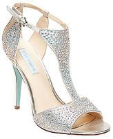 Betsey Johnson I Do Rhinestone Embellished Evening Sandals