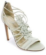 Roberto Cavalli Womens Leather Multistrap Lime Sandals.