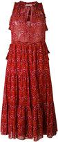 Ulla Johnson tiered tassel dress - women - Silk/Polyester - 4