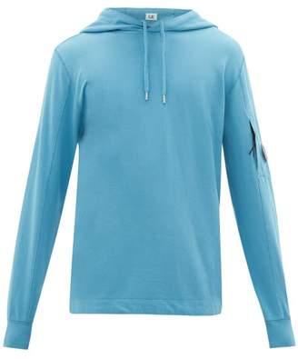 C.P. Company Lens Cotton Hooded Sweatshirt - Mens - Blue