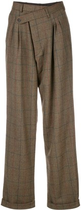 R 13 Checked Relaxed Trousers