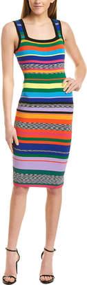 Milly Rainbow Stripe Sheath Dress