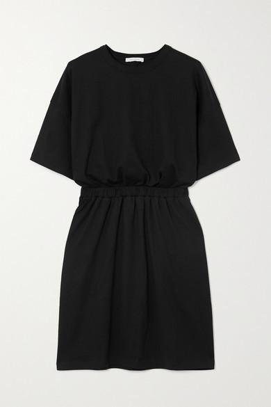 Ninety Percent + Net Sustain Open-back Organic Cotton-jersey Mini Dress - Black