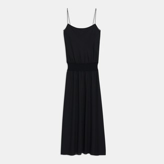 Theory Ribbed Waistband Dress in Silk