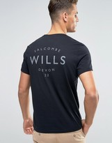 Jack Wills T-Shirt With Small Wills Logo In Black