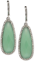 lonna & lilly Silver-Tone Stone and Crystal Drop Earrings