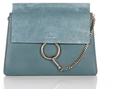 Chloé Faye Medium Shoulder Bag in Cloudy Blue