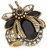 Heidi Daus Beetle Mania Swarovski Crystal & Multicolored Rhinestone Ring