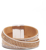 New York & Co. Shimmering Two-Row Wrap Bracelet