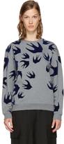 McQ Grey & Navy Swallows Sweatshirt