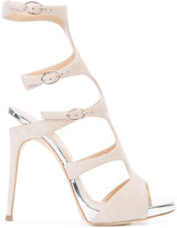 Giuseppe Zanotti Design buckled gladiator pumps - women - Leather/Suede - 35