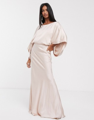 ASOS EDITION kimono plunge back maxi dress