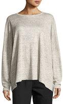 eskandar Melange Linen Sweater
