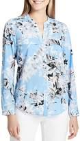 Calvin Klein Floral Button-Down Top