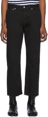 Maison Margiela Black Garment-Dyed Jeans