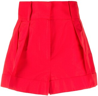 Valentino Pleat-Detail Tailored Shorts