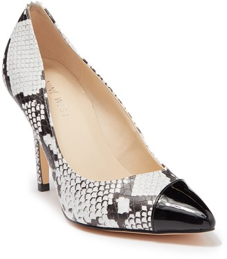 Nine West Future Snakeskin Printed Pointed Toe Pump