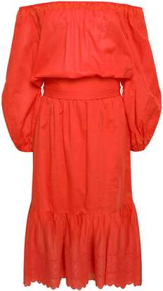 Vanessa Bruno Off-the-shoulder Broderie Anglaise Cotton Dress
