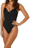 The Hidden Way Scallop One Piece Swimsuit