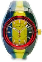 Gucci Sync striped rubber watch