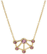 Rebecca Minkoff Gem Stone Fan Pendant Necklace