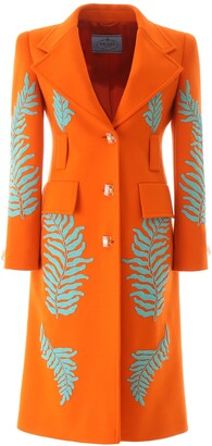 Prada Embellished Tailored Coat