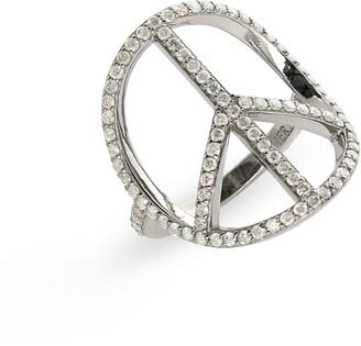 Sheryl Lowe Peace Sign Ring