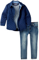 7 For All Mankind Trucker Jacket, Tee, & Jean Set (Toddler Boys)