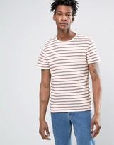 Selected T-Shirt With Woven Stripe