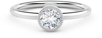Forevermark 18K White Gold Beaded Diamond Engagement Ring, Size 7