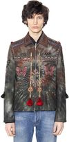 Valentino Tie-Dye Embellished Wool Cloth Jacket