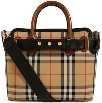 Burberry Mini Vintage Check Belt Tote Bag