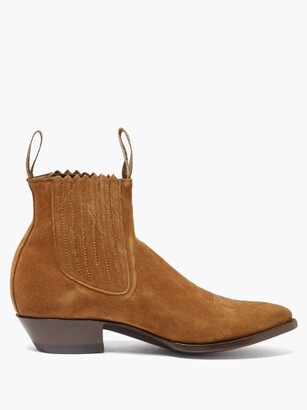 Yuketen Pancho Suede-leather Chelsea Boots - Brown