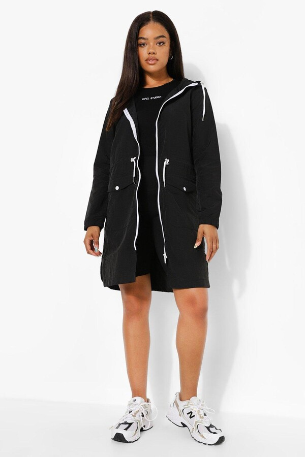 Thumbnail for your product : boohoo Longline Hooded Festival Mac