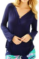 Lilly Pulitzer Lilias Top Navy