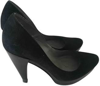 Pura Lopez Black Suede Heels