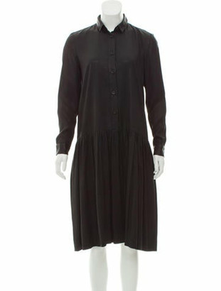 Creatures of Comfort Coated Midi Dress Black