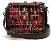 Alexander McQueen Box 16 tweed and leather-trimmed shoulder bag