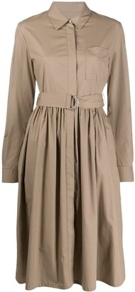 MSGM belted-waist A-line shirtdress