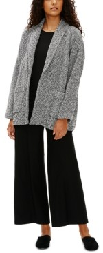 Eileen Fisher Organic Roomy Shawl-Collar Jacket