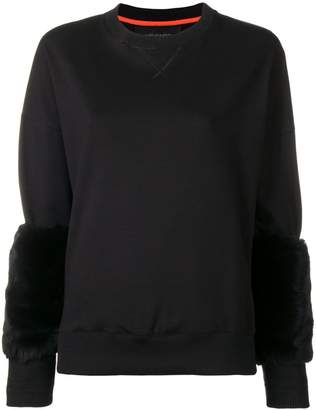 Mr & Mrs Italy fur-cuff fitted sweater