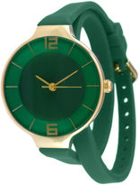 JCPenney TKO ORLOGI Womens Green Silicone Strap Wrap Watch