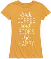 Instant Message Women's Women's Tee Shirts HEATHER - Heather Golden Meadow 'Drink Coffee. Read Books' Relaxed-Fit Tee - Women