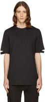 Helmut Lang Black Cut Hem T-shirt