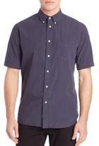 Rag & Bone Woven Short Sleeve Button-Down