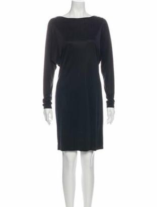 Celine Bateau Neckline Mini Dress Grey